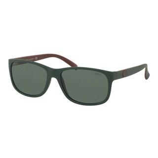 Polo Ralph Lauren Men's PH4109 559671 Green Plastic Phantos Sunglasses