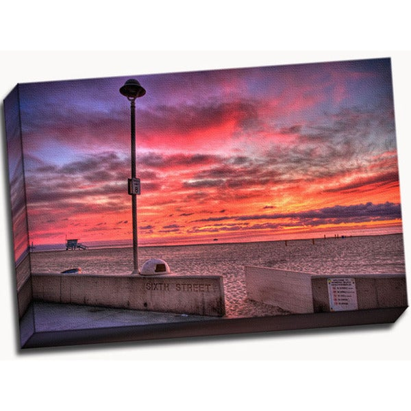 95d32158f23eb3 Shop Alex Smith Warm Sunset Wall Decor - Free Shipping Today - Overstock -  11998638