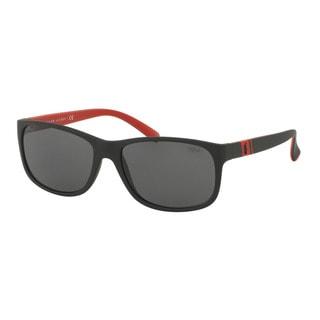 Polo Ralph Lauren Men's PH4109 524787 Black Plastic Phantos Sunglasses