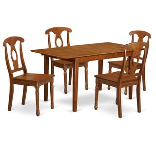 PSNA5-SBR 4-chair 5-piece Kitchen Table Set with Leaf