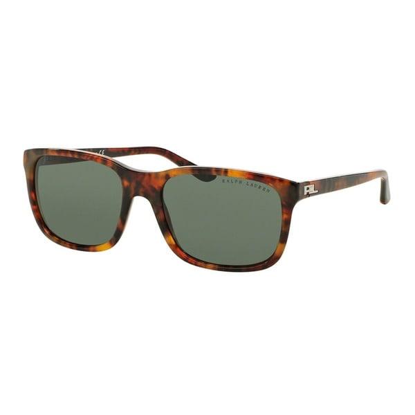 Ralph Lauren Men's RL8142 501771 Havana Plastic Square Sunglasses