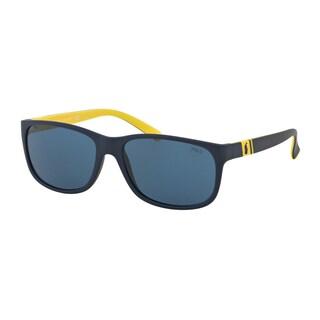 Polo Ralph Lauren Men's PH4109 558880 Blue Plastic Phantos Sunglasses