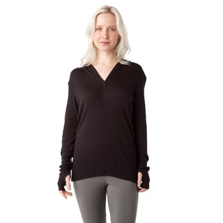 AtoZ Thumbhole Thermal Modal Hoodie Top