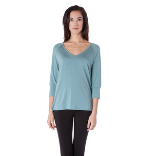 AtoZ Women's Modal Raglan Sleeve Top