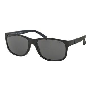Polo Ralph Lauren Men's PH4109 528487 Black Plastic Phantos Sunglasses