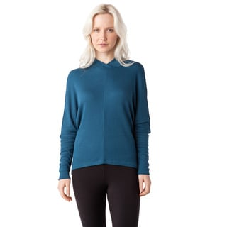 AtoZ Oversized V-neck Thermal Modal Top