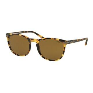 Polo Ralph Lauren Men's PH4107 500473 Havana Plastic Phantos Sunglasses