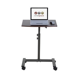 OneSpace 50-JN02 Angle- and Height-Adjustable Mobile Laptop Computer Desk