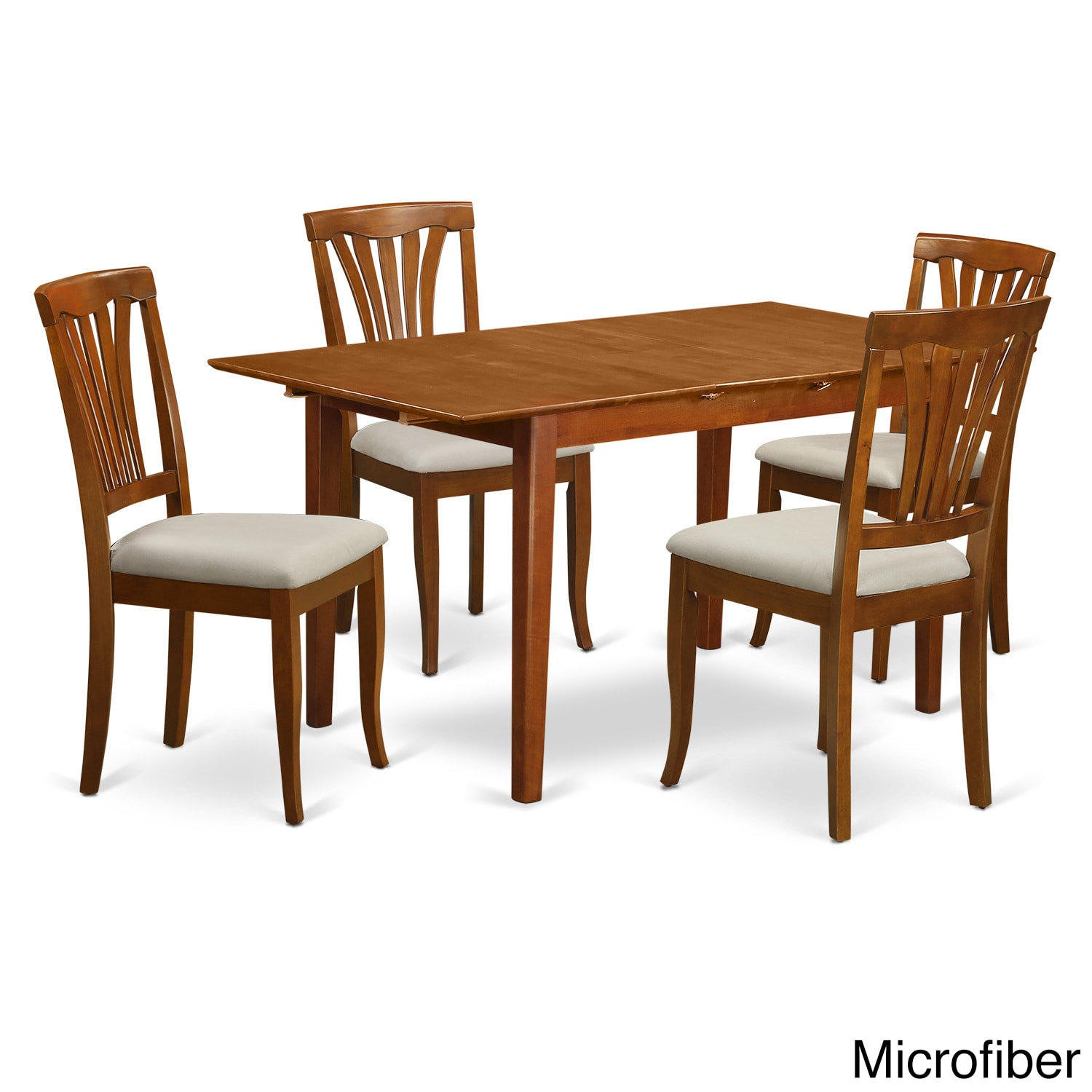 PSAV5-SBR Table with Leaf 4-chair 5-piece Small Dinette S...