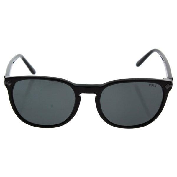 4b9b92adfe90 Polo Ralph Lauren Men's PH4107 500187 Black Plastic Phantos Sunglasses