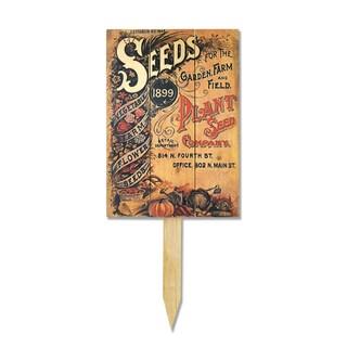 Wood Vintage Seeds Yard Marker