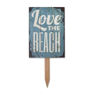 Wile E Love the Beach Yard Marker