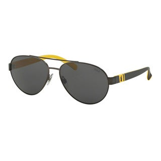 Polo Ralph Lauren Men's PH3098 931087 Gunmetal Metal Pilot Sunglasses