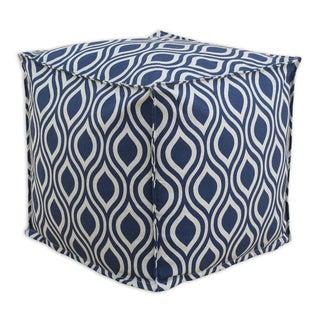 Nichole Indigo-Lakin Blue, Grey 12.5-inch Square Ottoman