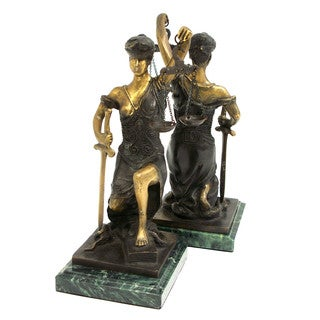 Bey Berk Kneeling Lady Justice Bookends