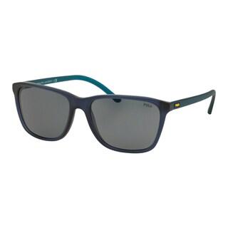 Polo Ralph Lauren Men's PH4108 527687 Blue Plastic Square Sunglasses