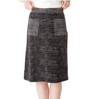 AtoZ Knee Length Skirt with Pockets