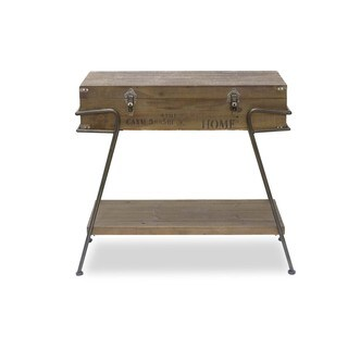 Brown Wood Trunk Console Table