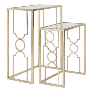 NA Sienna Mirrored Nesting Tables (Set of 2)
