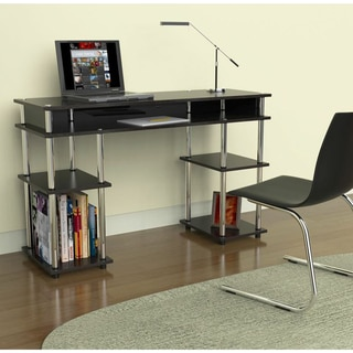 Convenience Concepts Designs2Go Black Plastic, Steel, Wood No Tools Student Desk