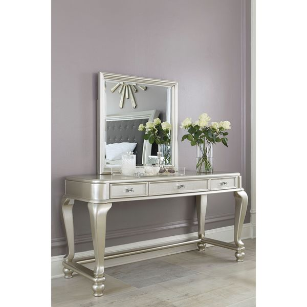 Signature Design by Ashley Coralayne Silver Vanity Mirror