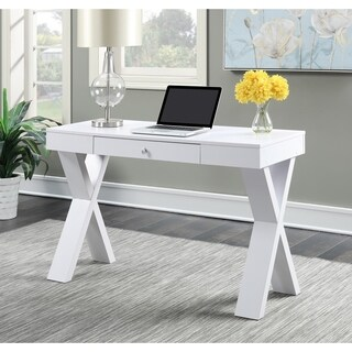 Clay Alder Home Logan Espresso/ White Wood Desk with Drawer