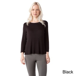 AtoZ Thermal Modal Crop Top with Side Slits