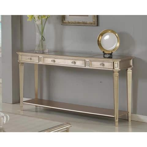 Best Master Furniture Palais Sofa Table with Mirrored Top
