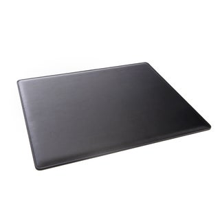 Royce Executive Black Leather 17-inch x 14-inch Desk Pad Blotter