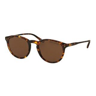 Polo Ralph Lauren Men's PH4110 513483 Havana Plastic Phantos Polarized Sunglasses