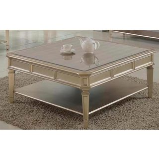 Best Master Furniture Palais Coffee Table with Mirrored Top