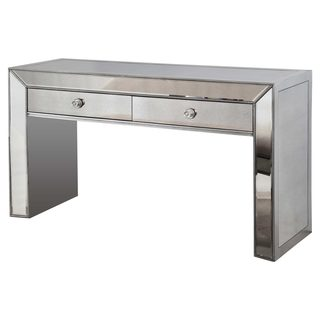 Best Master Furniture Silver Mirrored Console Table