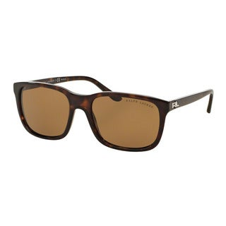 Ralph Lauren Men's RL8142 500383 Havana Plastic Square Polarized Sunglasses