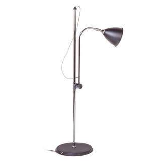 Hans Andersen Home Carmelo Floor Lamp (Option: Modern - Black Shade - Silver/Black - Metal)