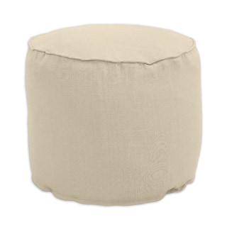 Jefferson Driftwood Tan Linen 20-inch x 17-inch Round Ottoman