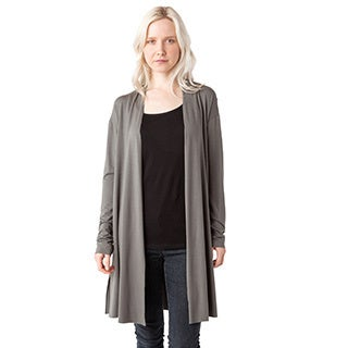 AtoZ Women's Multicolor Cotton Modal Long Cardigan