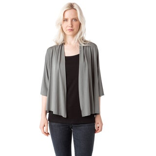 AtoZ Women's Modal Open Cropped Cardigan