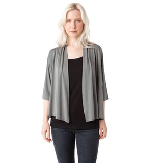 AtoZ Short Sleeve Cropped Modal Cardigan