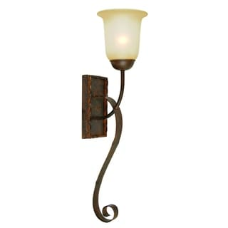 Gianni Light Bronze Patina Finish Wall Sconce Light Fixture with Soft Allure Alabaster Glass