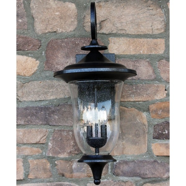 Outdoor Wall Lights Metal: Shop Y-Decor Brielle Exterior Light In Stone Finish