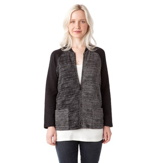 AtoZ Women's Zip-up Cardigan