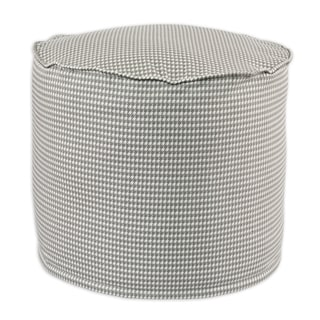 Houndstooth Storm Twill Cotton 20-inch x 17-inch Hassock