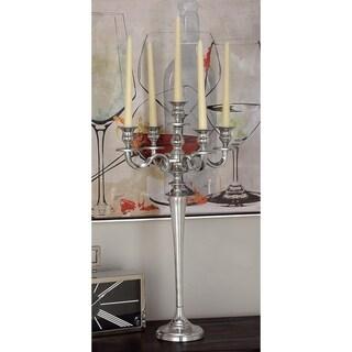Intricately Designed Aluminum 5-candle Candelabra