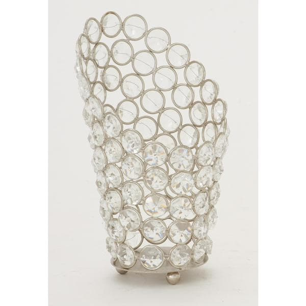 Metal Bead 4-inch x 7-inch Candle Votive