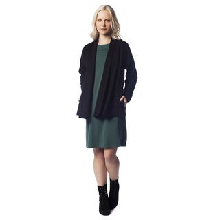 AtoZ Women's Brushed Viscose Cardigan