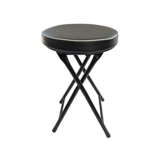weeu0027s beyond black cushioned folding stool