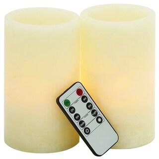 Mesmerizing LED Flameless Remote Candle Set