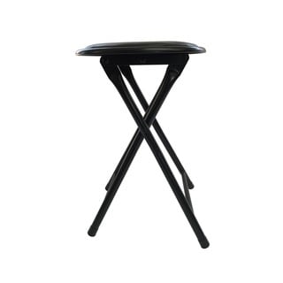 Wee's Beyond Black Metal Cushioned Folding Stool