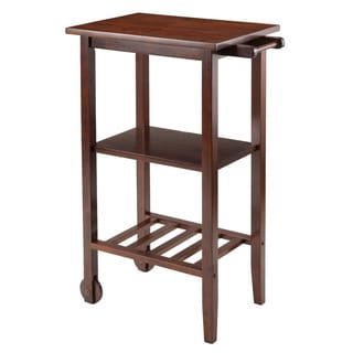 Winsome Stevenson Wood 2-wheel Kitchen Storage Cart