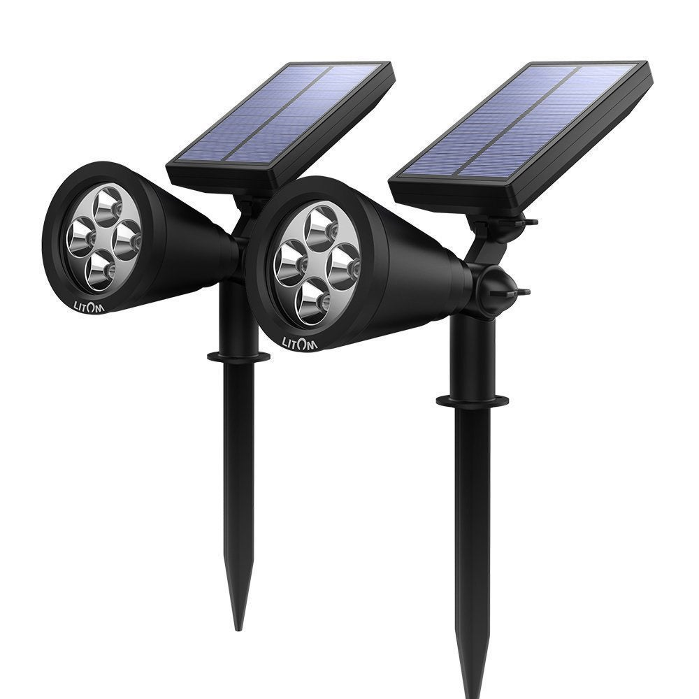 Coutlet Solar-powered Outdoor Wall Security Lighting (Pac...